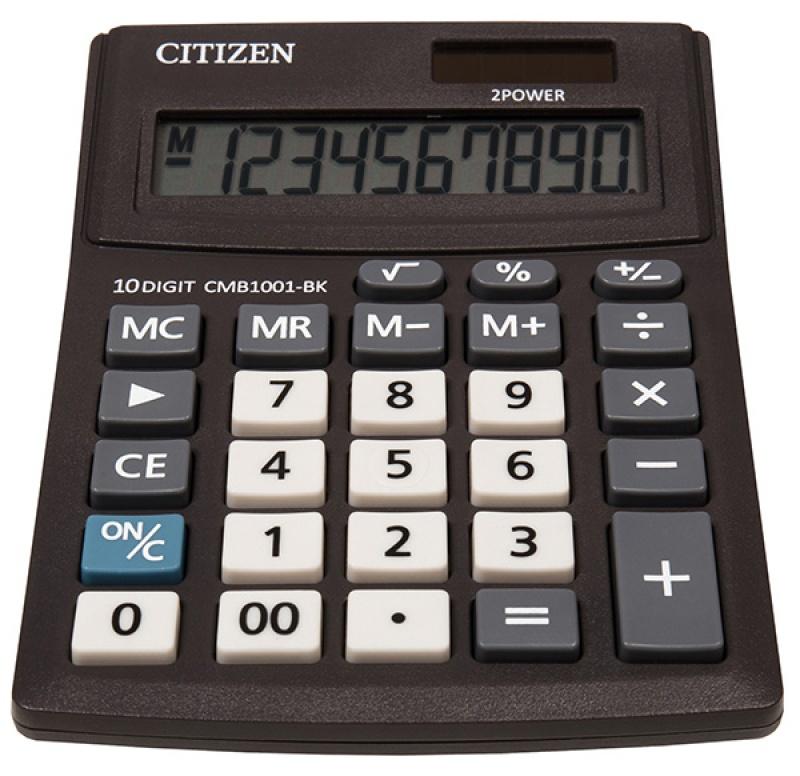 Kalkulator biurowy CITIZEN CMB1001-BK Business Line, 10-cyfrowy, 137x102mm, czarny, CI-CMB1001BK