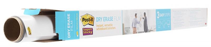 Suchościeralna folia w rolce POST-IT® Dry Erase (DEF8X4-EU), 122x244cm, biała, 3M-70006850757