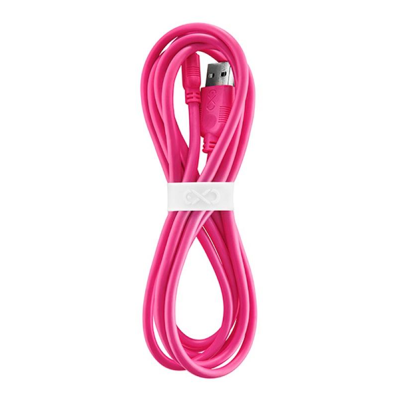 Uniwersalny kabel Micro USB EXC Whippy, 2m, różowy, XM-937649
