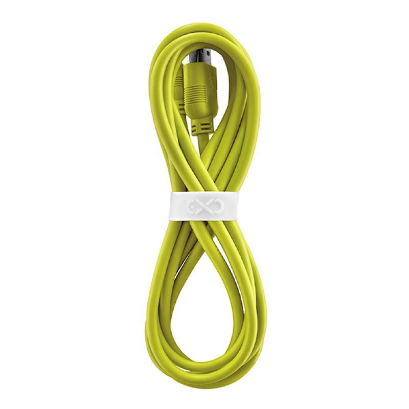 Uniwersalny kabel Micro USB EXC Whippy, 2m, limonkowy, XM-937618
