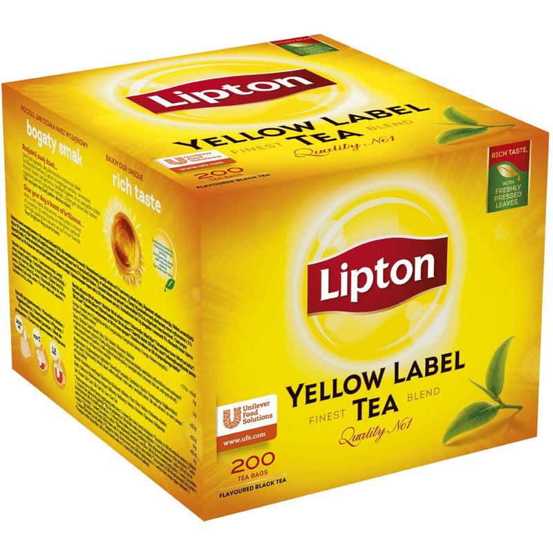 Herbata Lipton ekspresowa, Yellow Label 100 szt., GHK0160