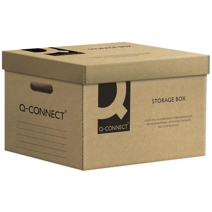 Pudło archiwizacyjne Q-CONNECT, karton, zbiorcze, szare, KF15850