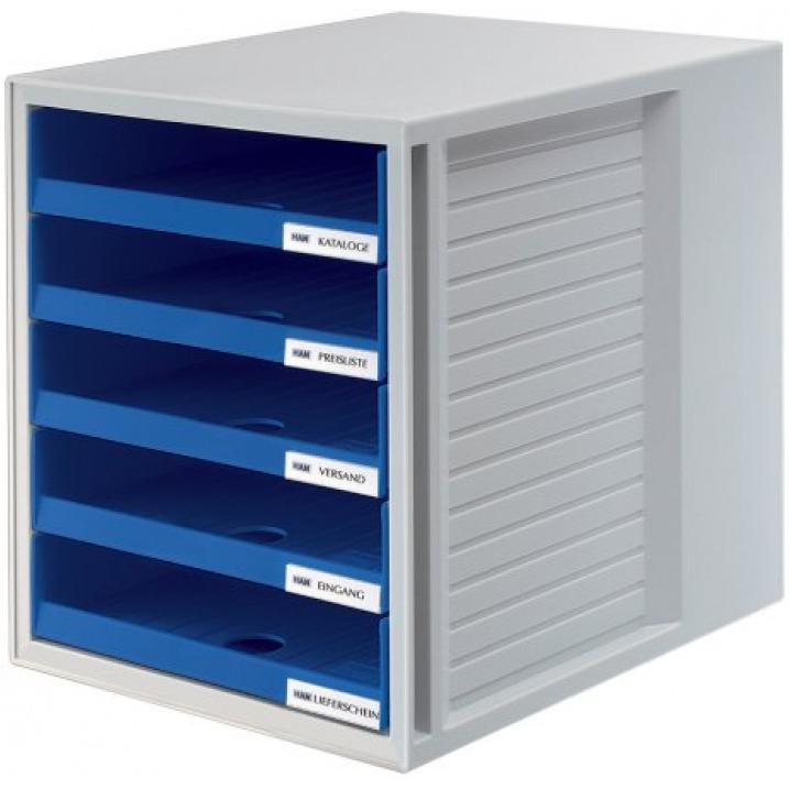 Zestaw 5 szufladek HAN CabinetSet, polistyren, A4, otwarte, niebieski, HN140114-10