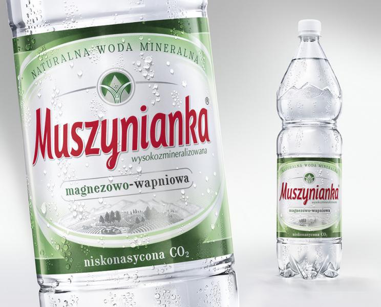 Woda MUSZYNIANKA, niskonasycona / 1 / 5 L, GNK0670