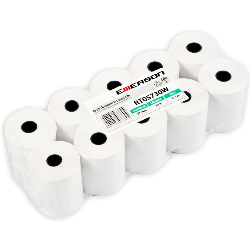 Rolki termiczne, 57mm x 30m (10 szt.), ROK0170
