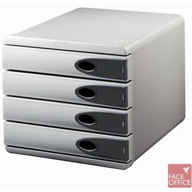 Pojemnik LEITZ Allura, 4 szuflady, szary/przezroczysty grafitowy, SUK0760187
