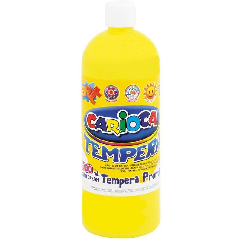 Farba Carioca tempera 1000 ml, żółty, FAK0190