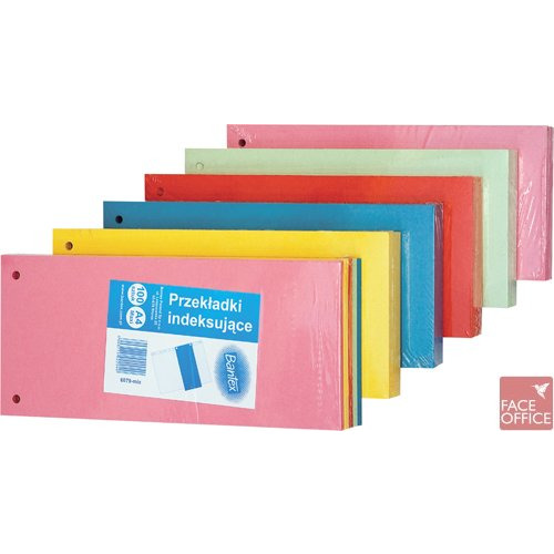 Przekładki kartonowe 1/3 A4  żółte 100205026 ELBA, PR 0440089