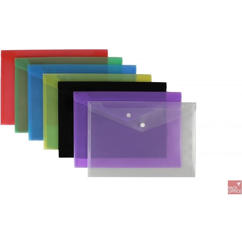 Teczka kopertowa DL SATYNA - czerwona BIURFOL, TEK8526019