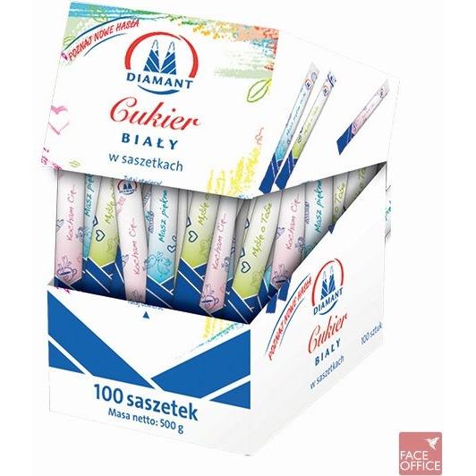 Cukier biały w saszetkach 100x5g, GCK0320219