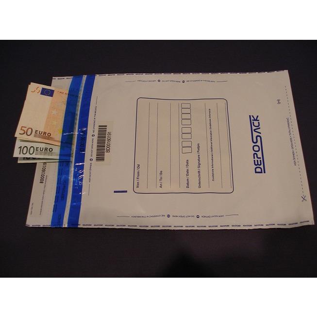 Koperty bezpieczne DEPOSACK B4 wymiar zewnętrzny (255 x 360 mm) biała (100 szt/op), 12-PSS-B4B0/100