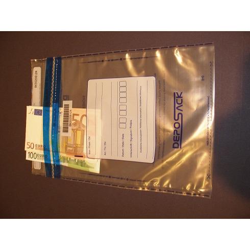 Koperty bezpieczne DEPOSACK B4 wymiar zewnętrzny (255 x 360 mm) transparentna (100 szt/op), 12-PSS-B4B1/100