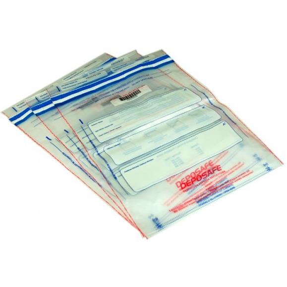 Koperty bezpieczne DEPOSAFE B4 wymiar zewnętrzny (260 x 365 mm) transparentna (100 szt/op), 12-PSY-B4B1/100