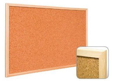Tablica korkowa w ramie drewnianej Wielkor, 50x80 cm, TBK2644