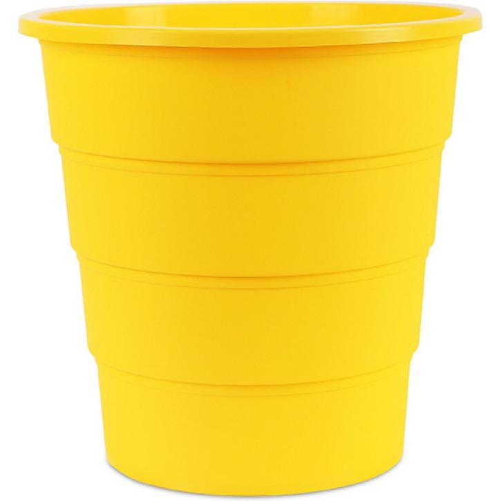 Kosz na śmieci OFFICE PRODUCTS, pełny, 16l, żółty, 19054621-06