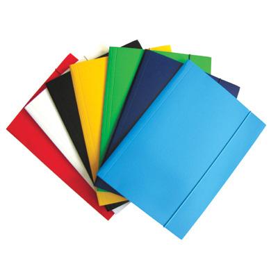 Teczka z gumką DATURA, niebieski, TEK3490