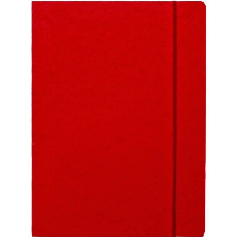 Teczka preszpanowa A4 z gumką prostą DATURA, czerwony, TEK9030