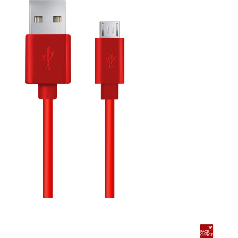 Kabel USB MICRO A-B 2M czerwony EB145R Esperanza, XUK0428251