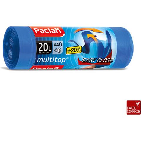 Worki na śmieci wiązane 20L (40) EASY CLOSE super mocne PACLAN, WO 0099115