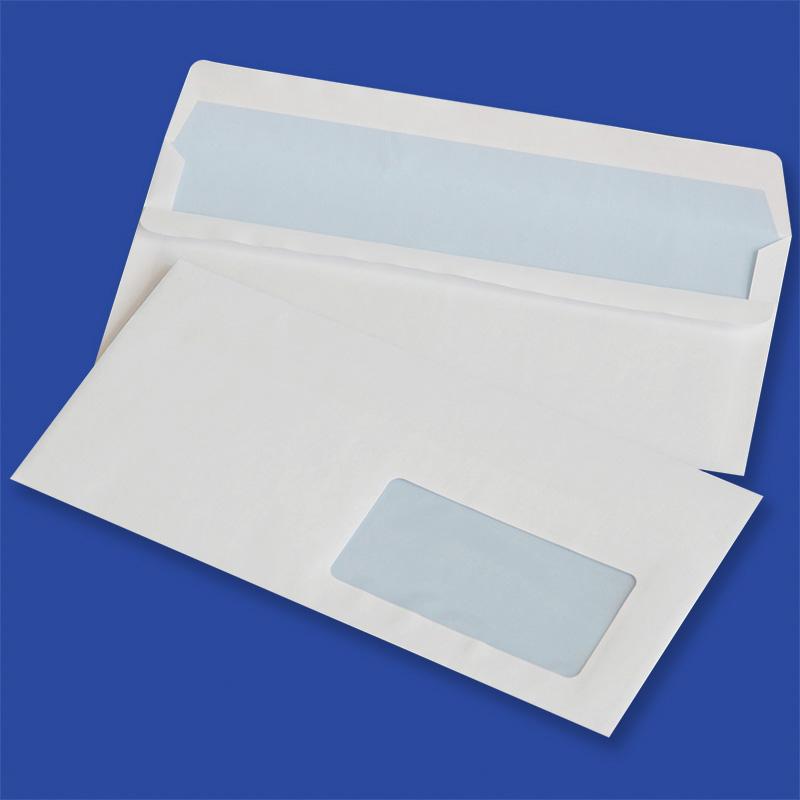 Koperty samoklejące Format DL - 110 x 220 mm, białe, DL SK okno prawe / 1000 szt., KPK2230