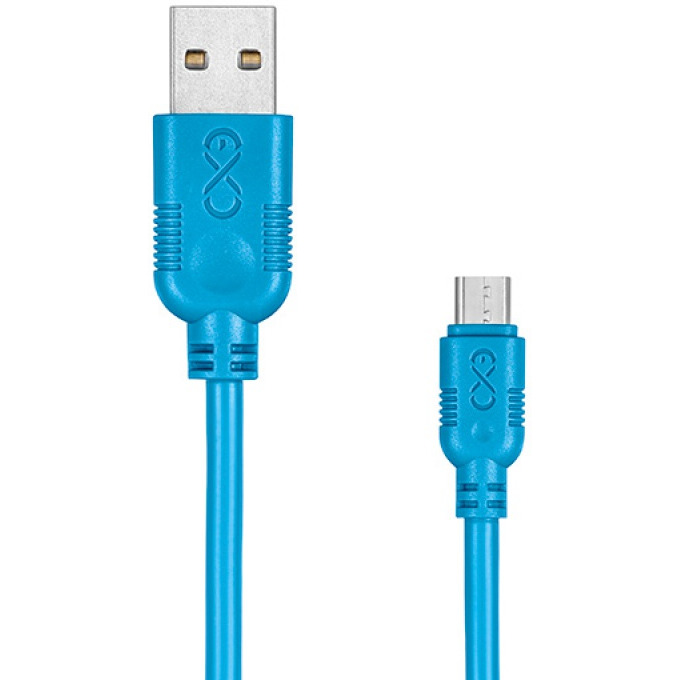 Uniwersalny kabel Micro USB EXC Whippy, 2m, niebieski, XM-937595