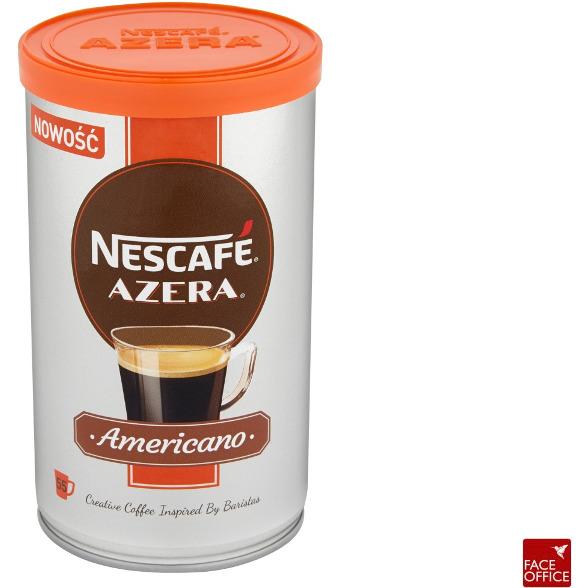 Kawa NESCAFE AMERICANO AZERA rozpuszczalna i drobno zmielone ziarna puszka 100g, GKK0259219