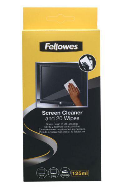 Ściereczki i płyn do czyszczenia ekranów i powierzchni szklanych Fellowes, Ściereczki i pły, XSK0020