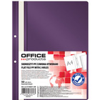 Skoroszyt OFFICE PRODUCTS, PP, A4, 2 otwory, 100/170mikr., wpinany, fioletowy